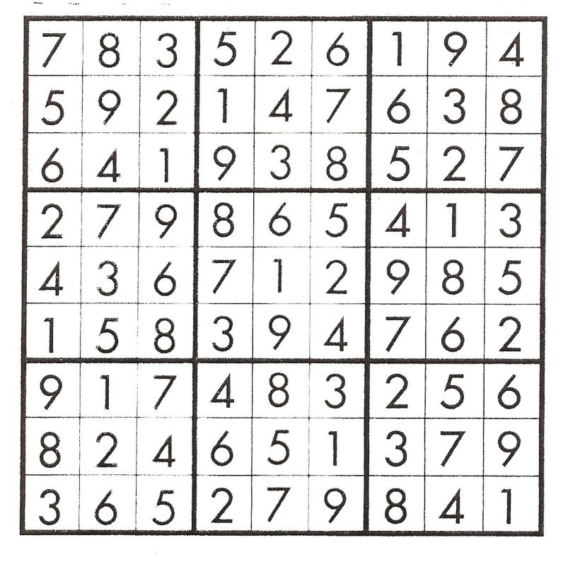 Sudokuorder