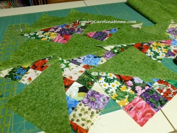 Scrap Dance Quickstep at From My Carolina Home - original pattern, quick and easy using jelly roll strips.