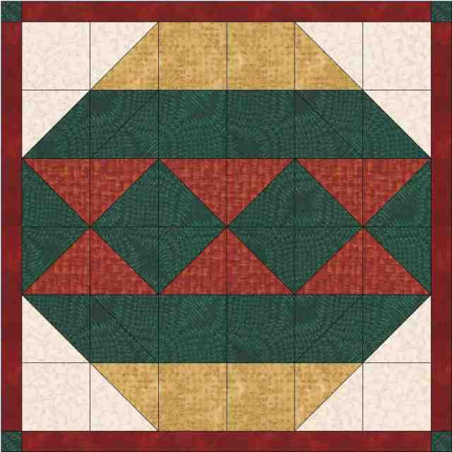 Christmas Ornament Mini Quilt