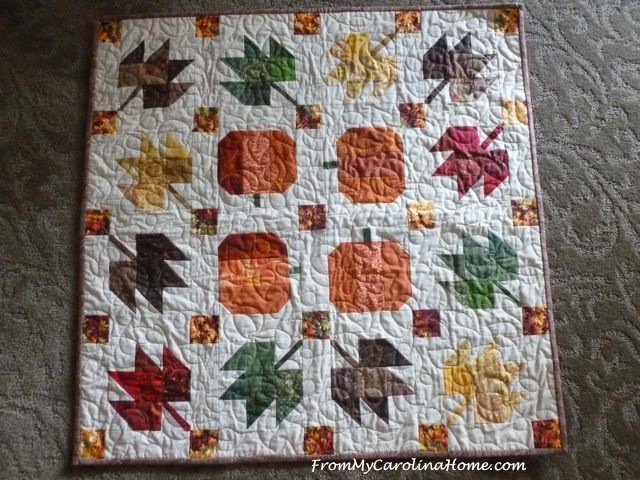 Pumpkins and Leaves Quilts for the Blogger's Quilt Festival | From ... : leaf quilts - Adamdwight.com