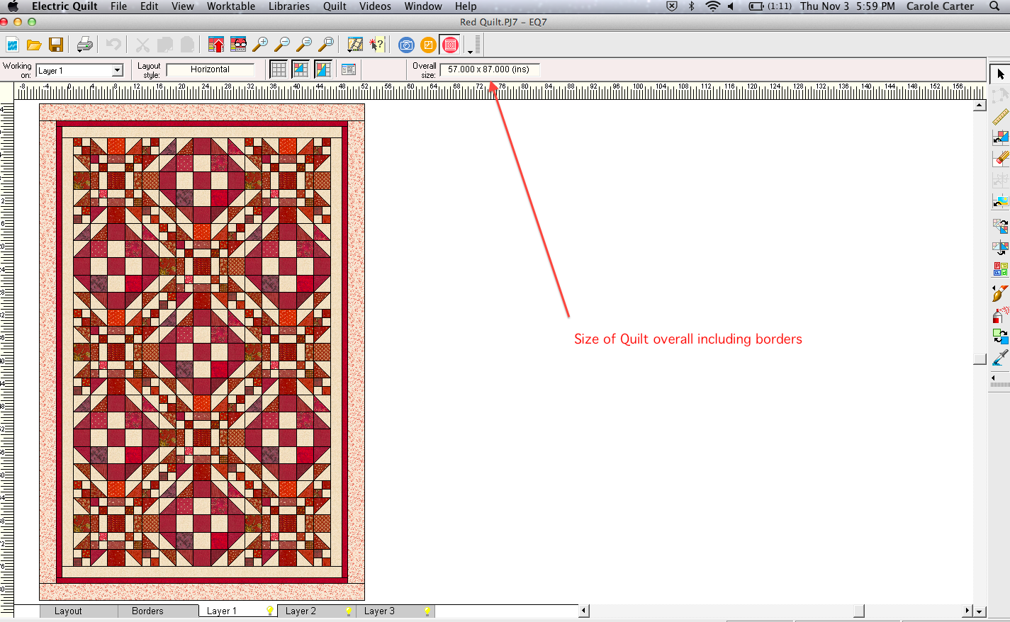 Designing The Red And Ecru Quilt From My Carolina Home